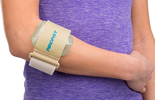 Aircast Pneumatic Armband: Tennis/Golfers Elbow Support Strap, Beige Pneumatic Arm