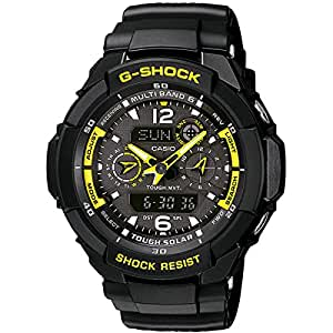 CASIO GW-3500B-1AER - Reloj de caballero de cuarzo, correa de resina color negro