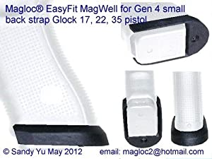 EasyFit MagWell for Glock 17 Gen 4 Pistols Small back strap