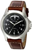 Hamilton Men's H64455533 Khaki King Black Dial Watch