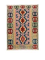 RugSense Alfombra Kilim Anatolia (Verde/Rosa)