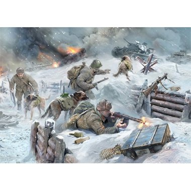 Buy Low Price Dragon Models 3611 1/35 Soviet Tank Hunters w/Dogs WWII Figure (B0032IBXC6)