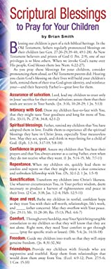 Scriptural Blessings to Pray for Your Children 50-pack
