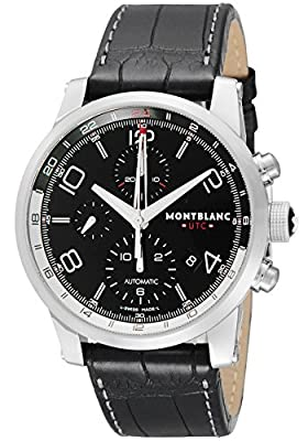 [Mont Blanc] MONTBLANC watch TIME WALKER UTC black dial automatic winding alligator leather 107336 Men's parallel import goods]