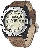 Timberland - TBL.13856JPBS/07 - Brookline - Montre Homme - Quartz Analogique - Cadran Beige - Bracelet Cuir Marron