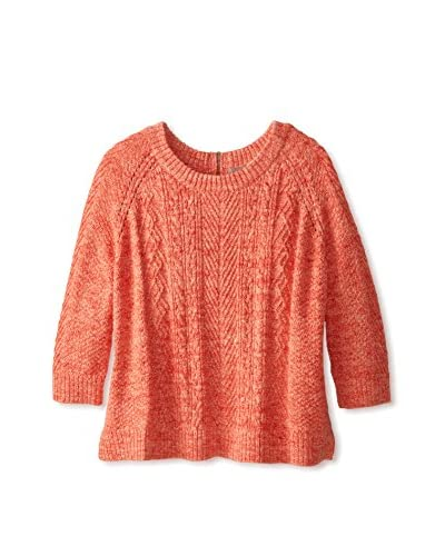 Cashmere Addiction Women's Cropped Cable Zip Back Sweater