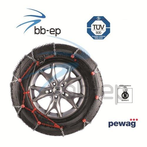 Premium Schneekette servo SUV von Pewag für 4x4, SUV´s und Transporter mit der Reifengröße - 195/60 R15 - TÜV geprüft & Ö-Norm V 5117