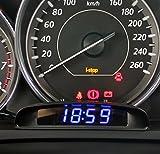 Mercury 多機能 3in1 車載時計 時刻 温度 電圧 お洒落 デジタル コンパクト とても便利