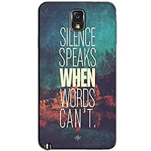 SILENCE SPEAKS BACK COVER FOR SAMSUNG GALAXY NOTE 3