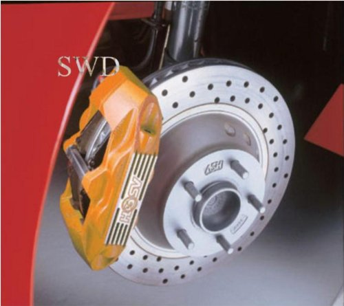 E-TECH Brake Caliper , Engine Paint Orange with STP Brake Cleaner and Brush