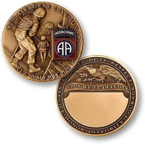 US Army 82nd Airborne Division Challenge Coin