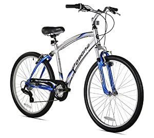 Northwoods Pomona Men's Cruiser Bike (26-Inch Wheels), Silver/Blue