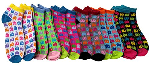 12 Pairs of Sockbin Womens Patterned Ankle Socks (Robot Chick) (Robots Bulk compare prices)