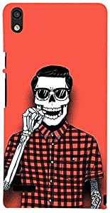 PrintVisa Boy Cool Skull Case Cover for Huawei Ascend P6