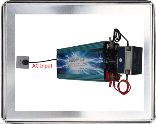 6000 Watt Continual 18000 Watt Surge Low Frequency Pure Sine Wave Power Inverter Converter Transformer 24 V Dc Input / 220 V-240 V Ac Output 60 Hz Frequency With 100A Battery Charger Power Tools