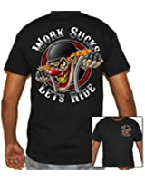 Biker Life USA Men's Work Sucks Clown Biker T-Shirt