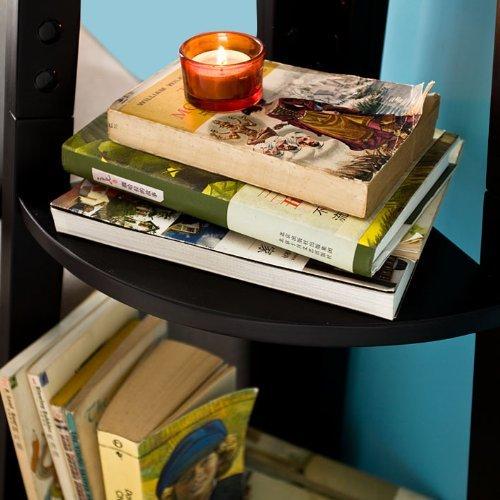 SoBuy Haotian Modern ladder bookcase made of wood, book shelf,stand shelf, wall shelf (FRG20-SCH)