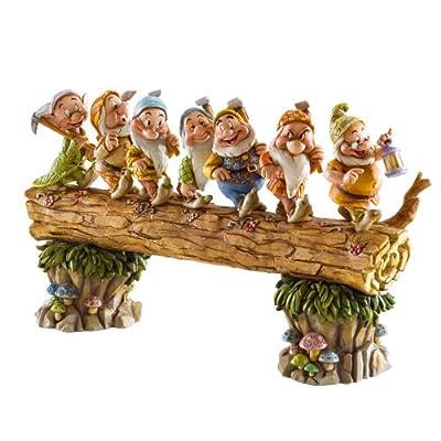 Enesco - Disney Traditions By Jim Shore 4005434 Seven Dwarfs Walking Over Fallen Log Figurine 8-1/4-Inch