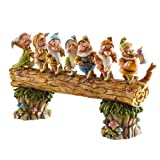 Disney Traditions by Jim Shore 4005434 Seven Dwarfs Walking Over Fallen Log Figurine 8-1/4-Inch
