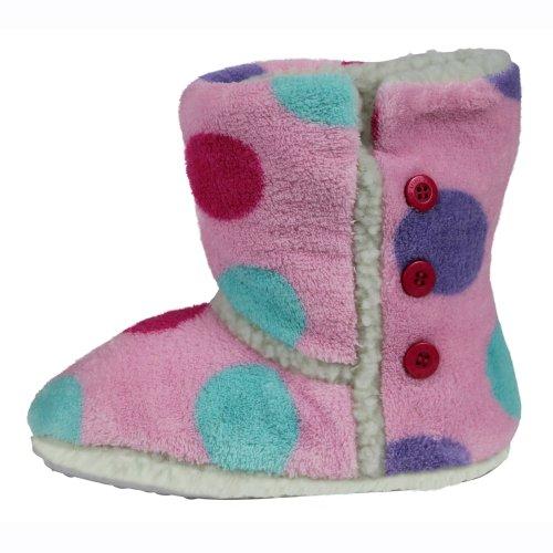 Image of Mini ZZZ Pink Spot Fleece-Lined Slipper Boots (B009TN57BQ)