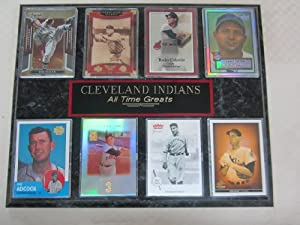 Cleveland Indians ALL TIME GREATS 8 Card Plaque by Cleveland Golf