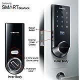 Samsung Ezon SHS-3321 Keyless Smart Universial Deadbolt Digital Door Lock, Black