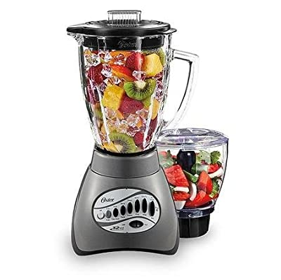 Oster 12-Speed Metallic Gray Blender with 3-Cup Food Processor from Oster