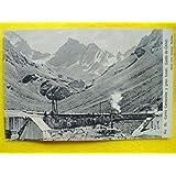 Antigua Postal - Old Postcard : Cerro Caracoles y gran tunel - Chile