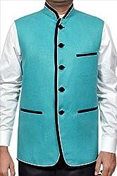 Adam In Style Green Jute Jacket For Men (Size: 38)