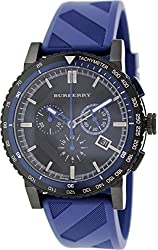 BU9807 Burberry The City Blue Rubber Chronograph Mens Watch