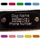 Custom Diamond Drag Engraved Pet Tag Dog Cat Collar Rivet Personalized W/ Mount