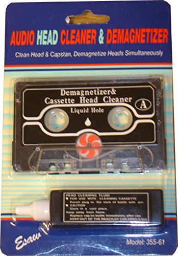Lowest Price! Cassette Tape Player Audio Head Capstan Cleaner & Demagnetizer Kit