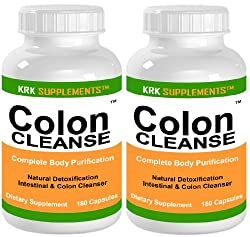 2 BOTTLES Colon Cleanse 360 total Capsules Body Detoxification Detox Extreme KRK SUPPLEMENTS