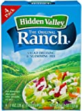 Hidden Valley Original Ranch Salad Dressing and Seasoning Mix, 4 Ounce Packets (Pack of 6)