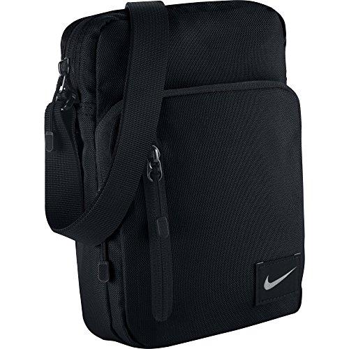Nike Core Small Items II Borsa a Spalla, Nero/Bianco/Argento