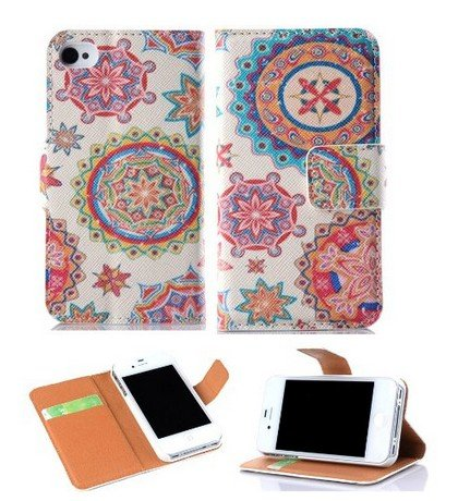 Candywe Colorful Wallet Pu Leather Credit Card Holder Pouch Case Cover For Apple Iphone 5 5S