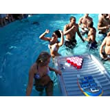 The Air Pong Inflatable Beer Pong Table Cooler, 7ft, Vinyl, Free Plastic Racks