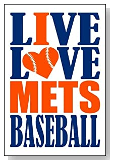 Live Love I Heart Mets Baseball lined journal - any occasion gift idea for New York Mets fans from WriteDrawDesign.com