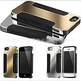 HuntGold TPU Silicone Lame doré coque de protecteur chic pour iPhone 5 5S(Doré)