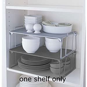 "Metal Mesh Cabinet Shelf Large (Silver) (5.3""H x 16.5""W x 10""D)"