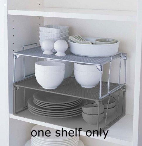 "Metal Mesh Cabinet Shelf - Large (Silver) (5.3""H x 16.5""W x 10""D)"