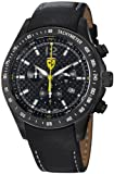 FerrariMens Scuderia Black Dial Black Leather Strap Quartz Watch