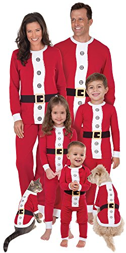 Santa Suit Matching Pajamas for the Whole Family, Dogs Large