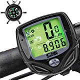 Zacro Bike Computer, Original Wireless Bicycle Speedometer with Backlight, Multi FunctionBike Odometer Cycling with Compass Key Ring Zacro