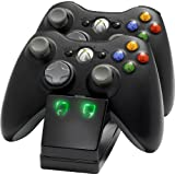 Xbox 360 - Twin Charging Cradle, schwarz [UK Import]