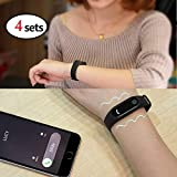 XuBa M2 Smart Bracelet Heart Rate Monitor Bluetooth Smartband Health Fitness Tracker Smart Band Wristband for Android iOS(4pcs) (Color: black)
