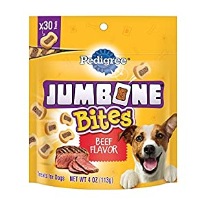 Pedigree Jumbone Bites Beef Flavor Treats For Dogs, 4 Ounces