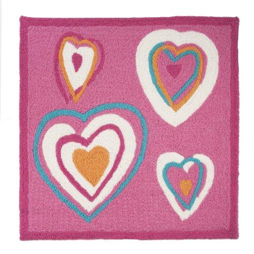 Zutano Rug Hearts 30 x 30