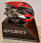 Giro Atmos (Import) Ultralight (250 Gram) Road Bike Helmet (Black w/Red & Silver, Large)