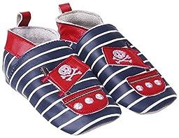 JoJo Maman Bebe Baby-Boys Newborn Pirate Booties, Navy, 6 Months